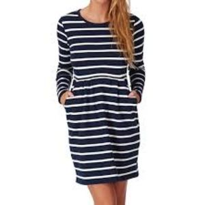 JOULES SZ 6 P_THURWELL Navy White Knit Dress